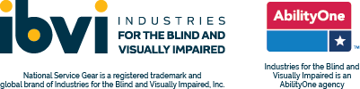 National Service Gear is a registered trademark and global brand of INDUSTRIES for the BLIND, Inc. Industries for the Blind is an AbiltiyOne agency.