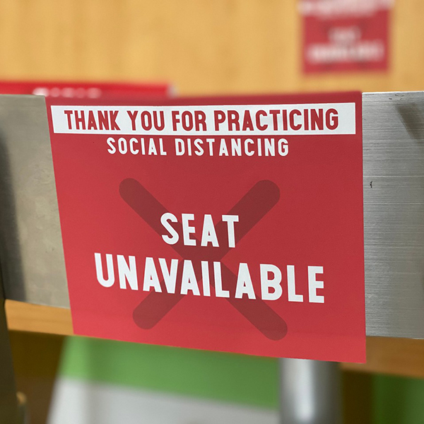 seat unavailable sign